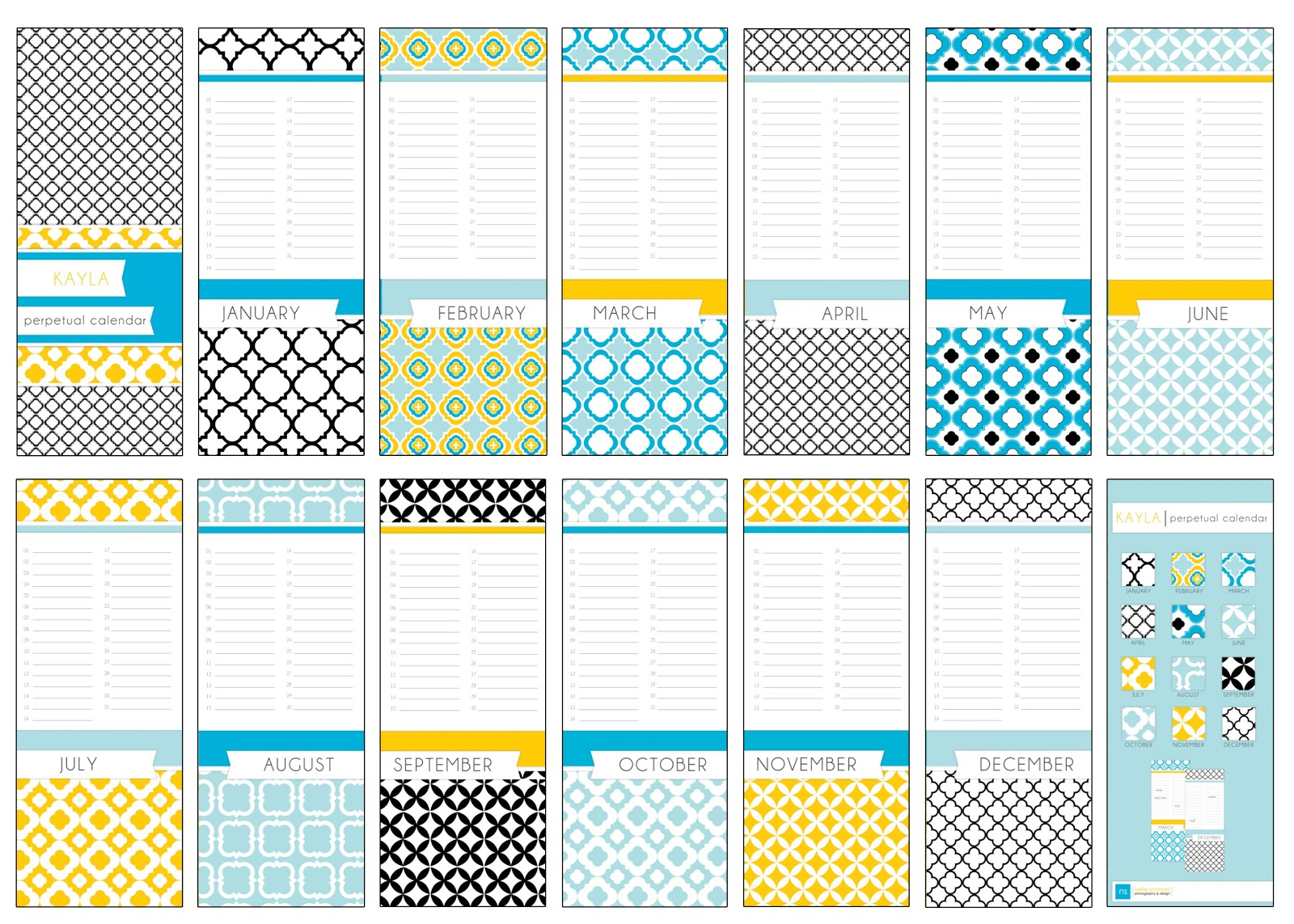 birthday calendar template – Birthday Calendar Template