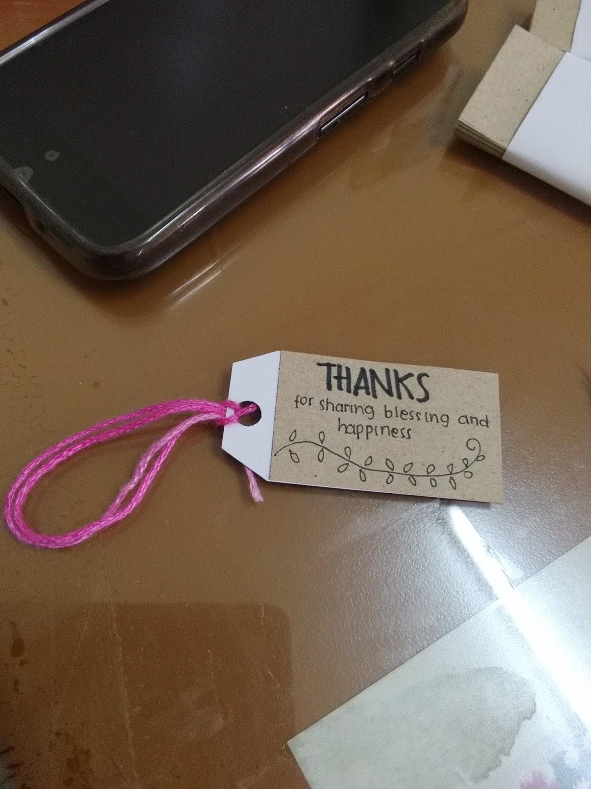 Corat Coret Tikameira Diy How To Make Greeting Cards Ucapan Kartu Terima Kasih Souvenir Lanjutkan Tulisan Dan Gambar Pada Sisi Lainnya