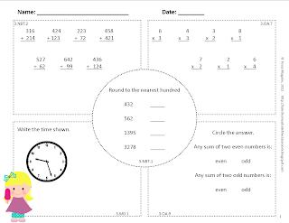12th Grade Math Common core math spiral