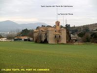 L'antiga colònia tèxtil del Pont de Cabrianes des de la carretera de Callús