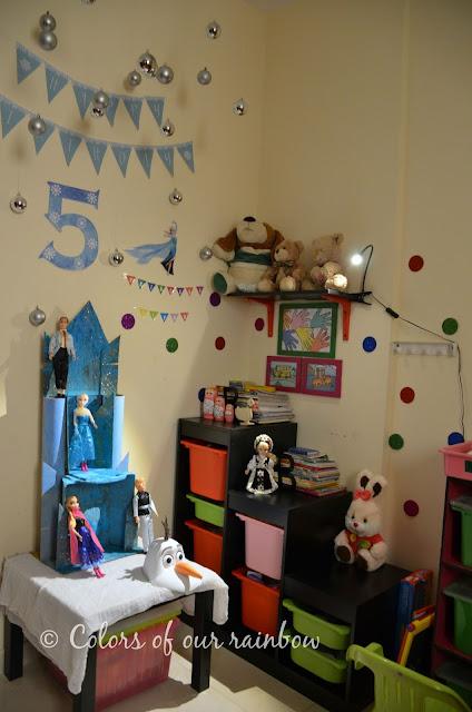 A Frozen Birthday and DIY Elsa Dress @http://colorsofourrainbow.blogspot.ae/