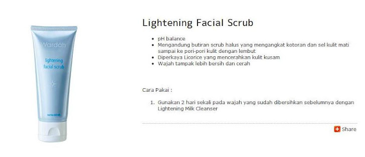 Lightening Facial Scrub - $7