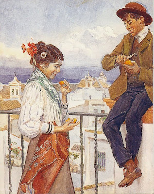 ilustración vintage Spain