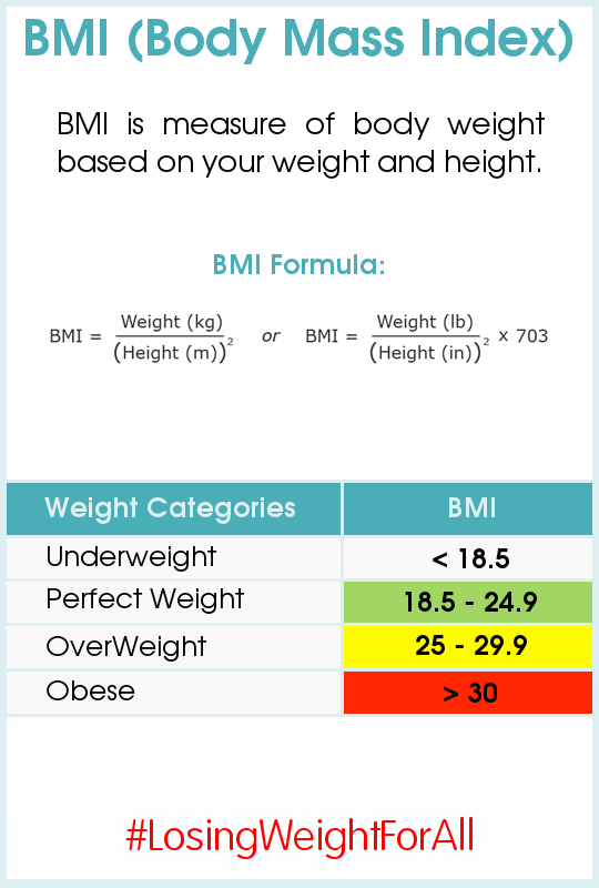 How to Manually Calculate BMI ~ Losing Weight For All