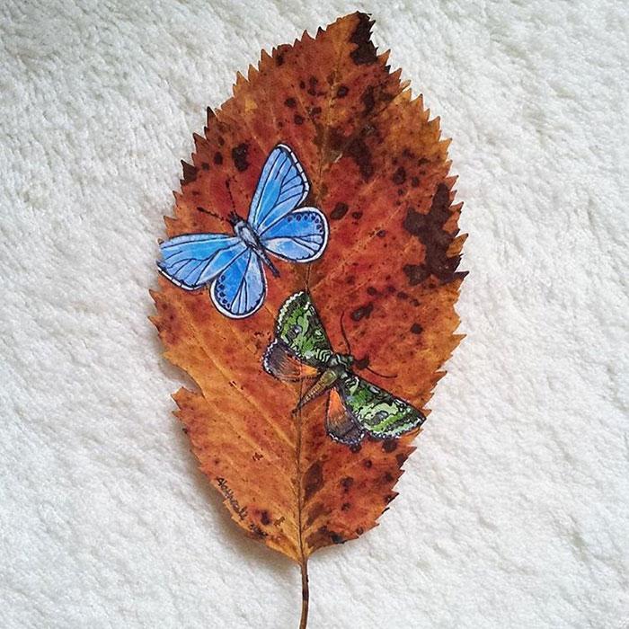 Painting On Maple Leaves Craft Art Ideas