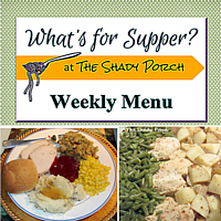 What's For Supper: Menu  October 20, 2014