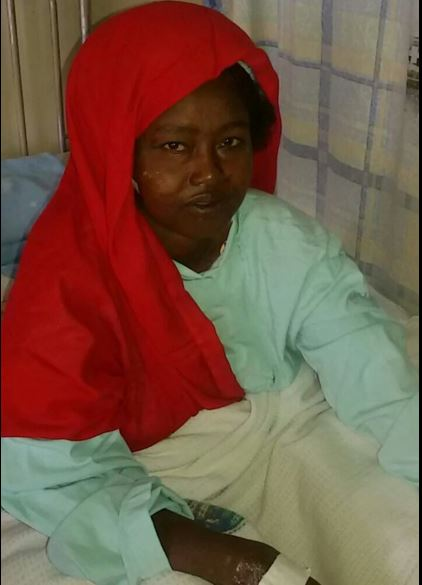Doctors Successfully Remove The Dagger From Fatuma Ibrahim's Cheek (Video +Photos)
