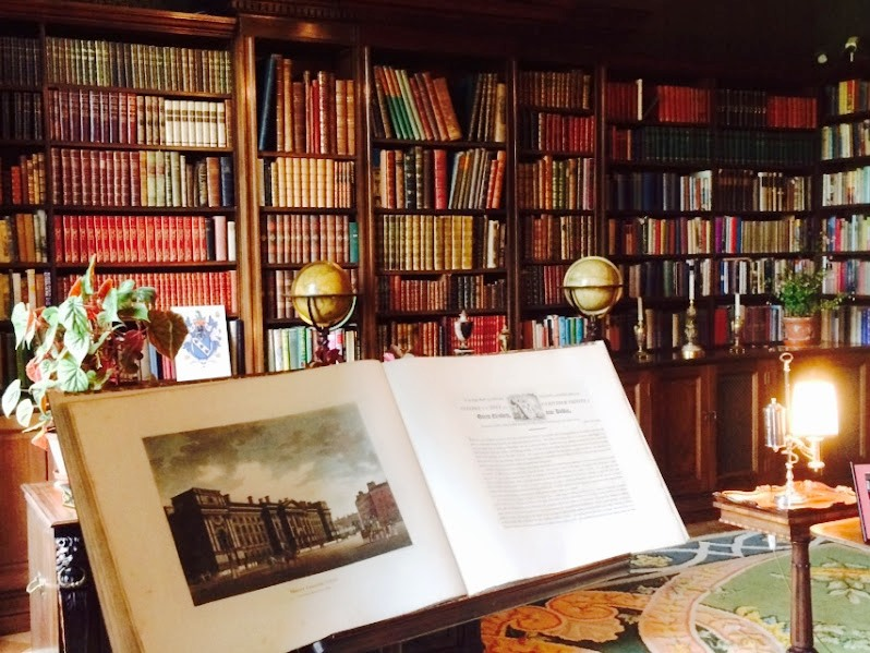 The Library in Russborough House near Blessington Co Wickow with one of the three stucco ceilings in the house by the Lafranchini brothers (Photograph: ... & Patrick Comerford: A tour of Russborough House in the rain to ...