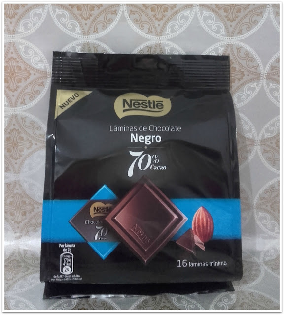 laminas de chocolate negro nestle disfrutabox