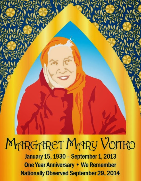 Margaret Mary Vojtko Memorial Card
