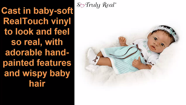 Alicia's Gentle Touch Realistic Interactive Baby Doll by Ashton Drake