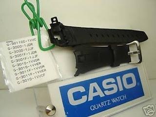 Casio watch band G-3011, G-3000, G-3001, G-3010 G-Shock Black Rubber Strap
