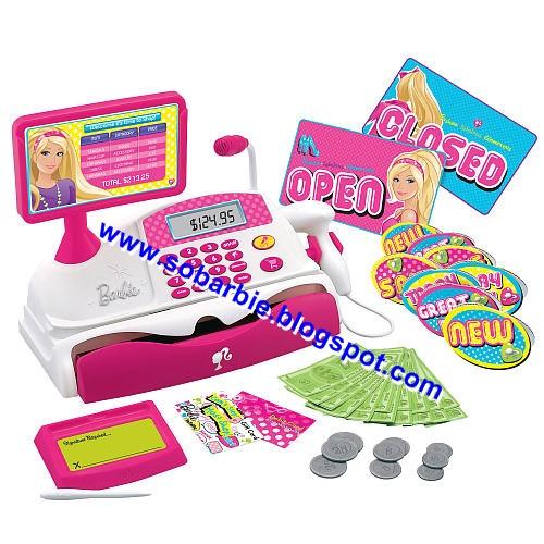Girl Toys 9 10 : Só barbie caixa registradora