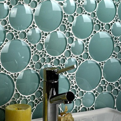bathroom glass tile