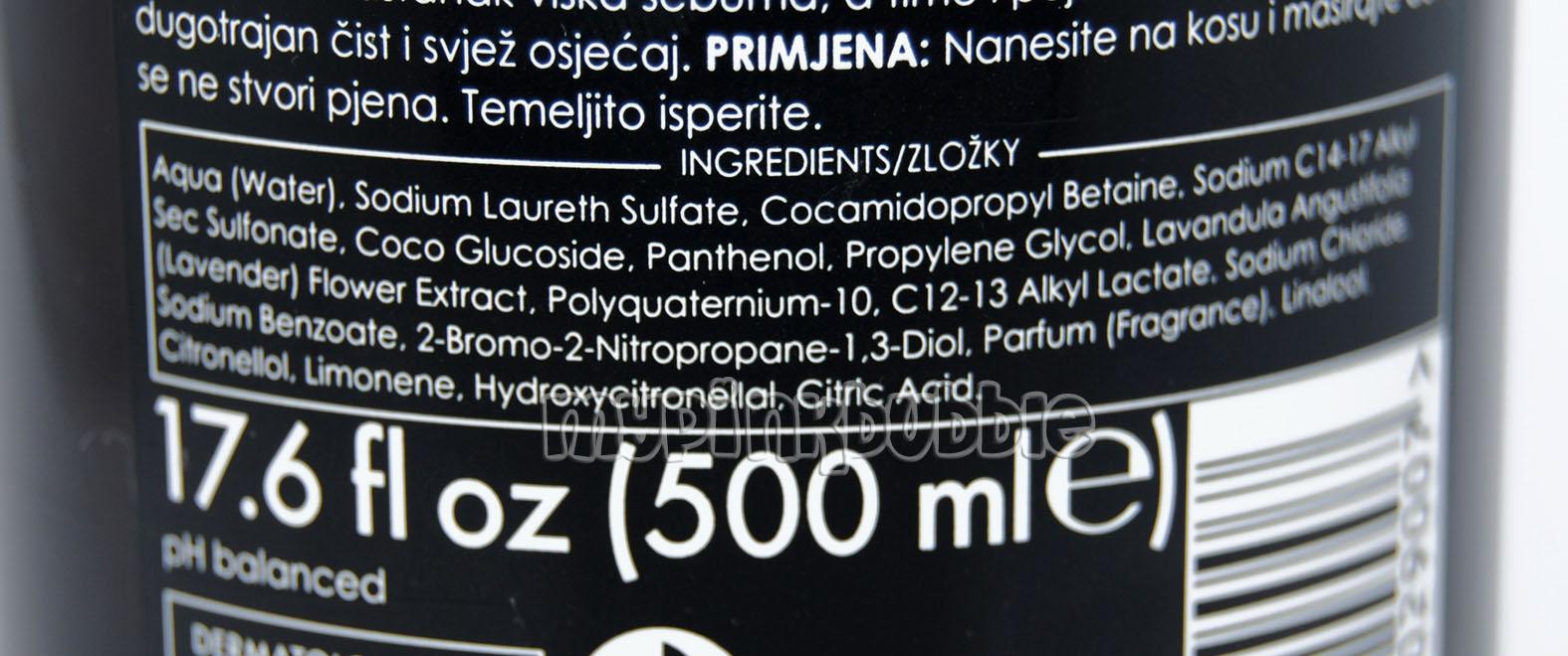 Ziaja champu lavanda ingredientes