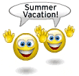 Summer vacation emoticons