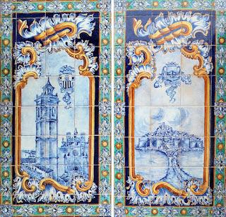 Plaza de España, Sevilla - Azulejo de Castellón (Detalle)