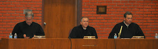 Judges from the Court of Appeals recently heard cases in the courtroom.