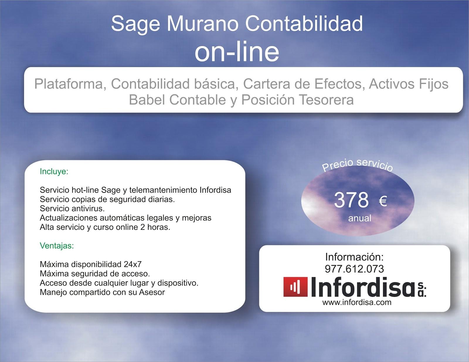 Sage 200 cloud / Sage Murano: Contabilidad online. Sage Murano Standard.