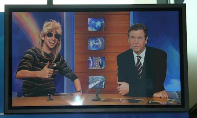 Johnny Deluxe bei Claus Kleber im ZDf Heute Studio