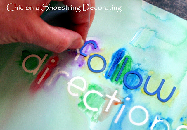 Watercolor word art for kids