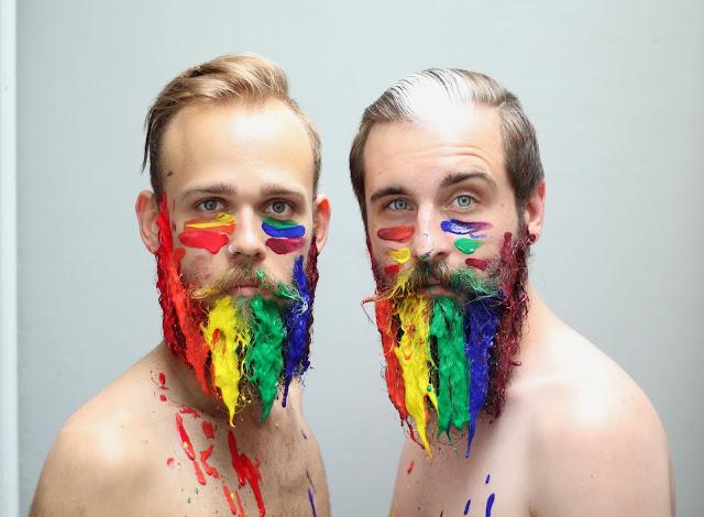 barbas com glitter