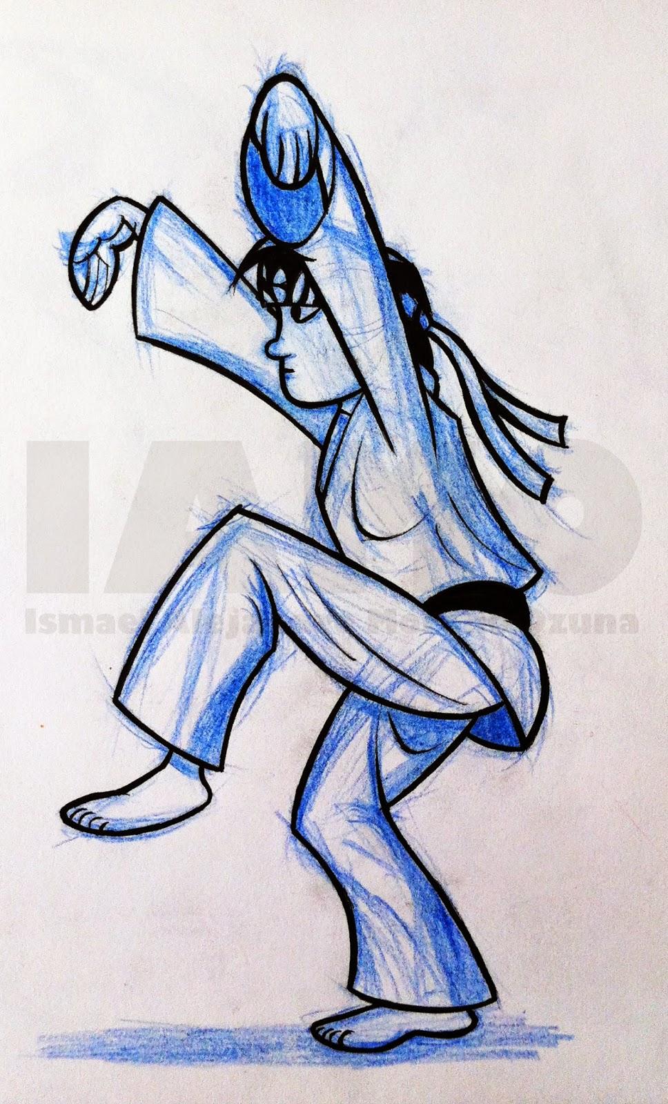 IAMO Karate Kid Crane Technique sketch