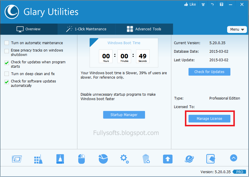 Download Glary Utilities PRO 5.20 Full Version Incl. Serial