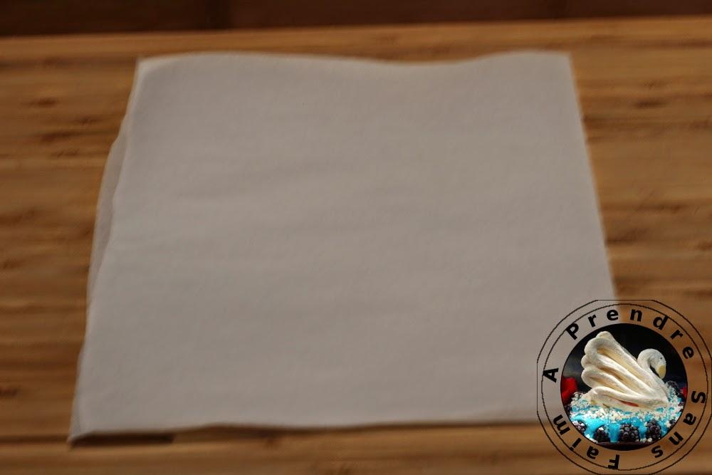 Comment faire un rond en papier cuisson (pas à pas en photos)