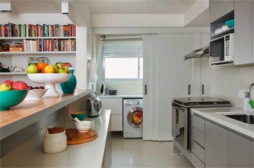 decoracao cozinha e area de servico integradas:dicas e inspirações de cozinhas integradas com área de serviço pra