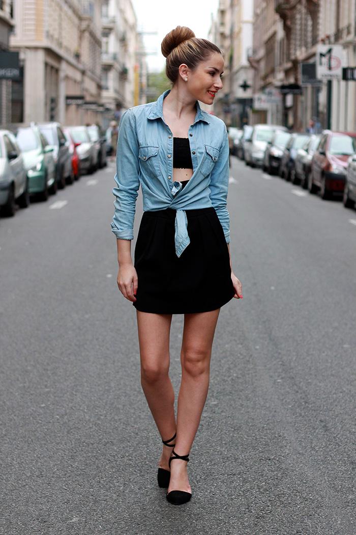 le temps des cerises chemise en jeans