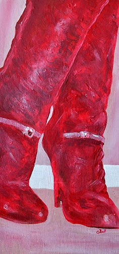 Red dancing boots painting