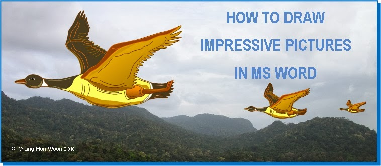 HOW TO DRAW IMPRESSIVE PICTURES IN MS WORD