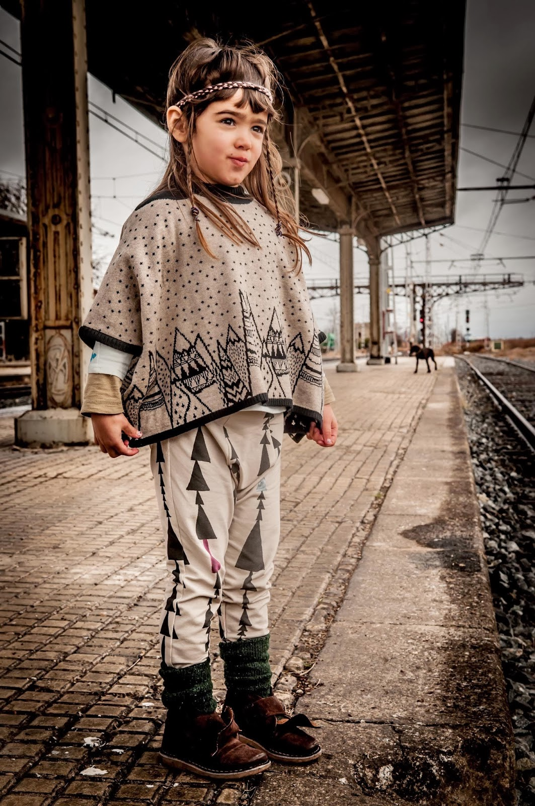 Wool poncho by Perfect Days for Autumn 2014 kidswear collection