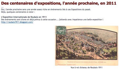 Les expositions en 1911