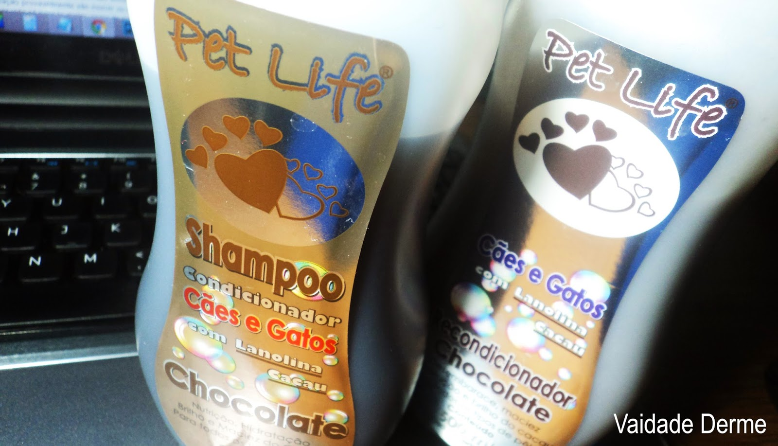 Shampoo e Recondicionador Chocolate Pet Life