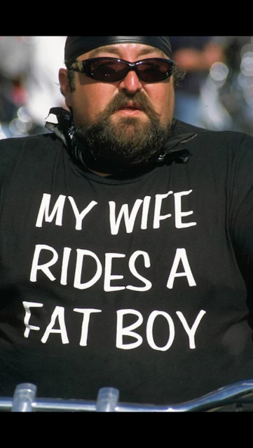 my wife rides a fat boy shirt