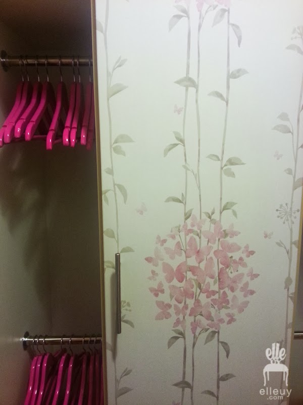 Decor me happy by elle uy wallpaper on closet doors they wanted to open the closets where theyll put hanging clothes and keep the shelves closed hence the remaining door eventshaper