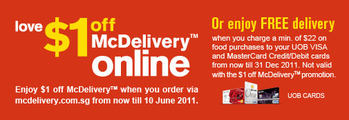 McDelivery Singapore ~ News Update