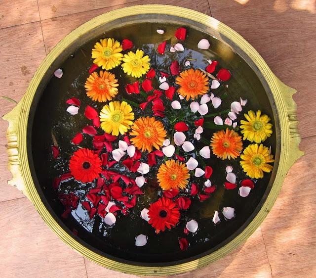 flower arrangement in a pot