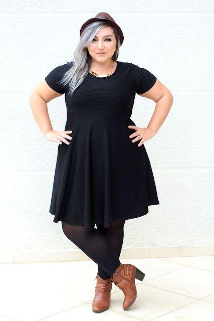 Negro total, seducción y elegancia para gorditas