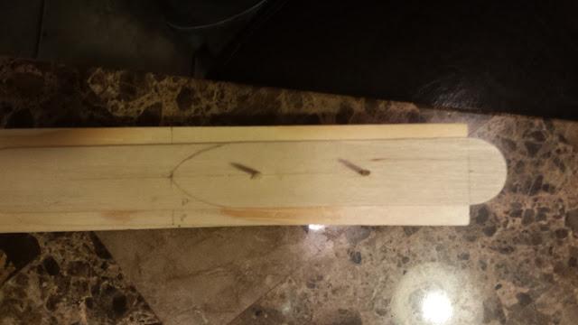 model ship wood layout
