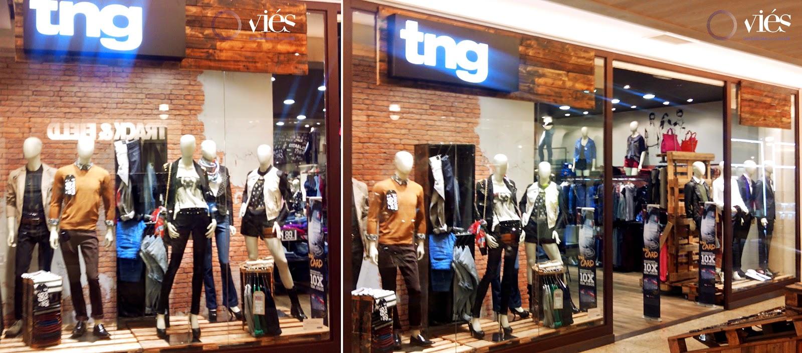 Vitrine da marca TNG