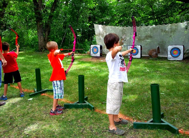 archery in the park at minneopa state park