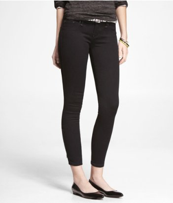 Express stella ankle zip jean legging black