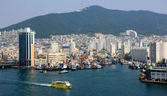 Hinh anh thanh pho Busan-Harbour Han Quoc