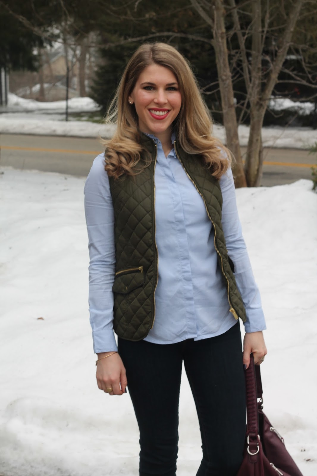 winter dark img skinny embellished quilt little quilted paired button collar olive jeans left declaire top i do with green a up burgundy vest