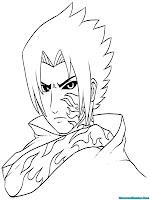 Lembaran Mewarnai Gambar Sasuke Naruto Shippuden