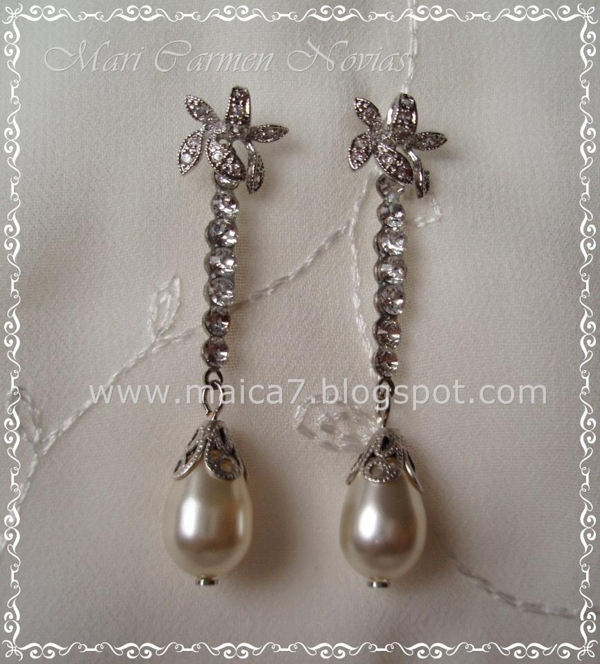 Pendientes azalea complementos para novias pendientes y - Complementos de bisuteria ...