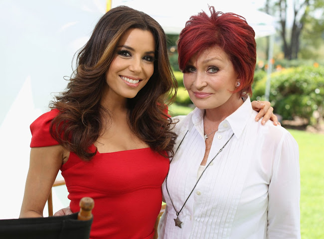 Photo of Eva Longoria and Sharon Osbourne at the NBC Universal summer press day held at The Langham Huntington Hotel 2012